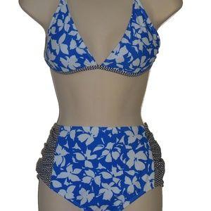 Raisins blue racerback bikini XL